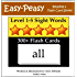 Level 1-5 Sight Words: 300+ Flash Cards (5 Books In One) (Easy-Peasy Reading & Flash Card Series)