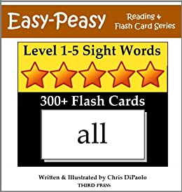 Worksheets Flash Card For Reading level 1 5 sight words 300 flash cards books in one easy one