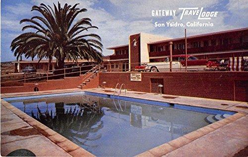 San Ysidro California Gateway Travel Lodge Pool View Vintage Postcard V16956