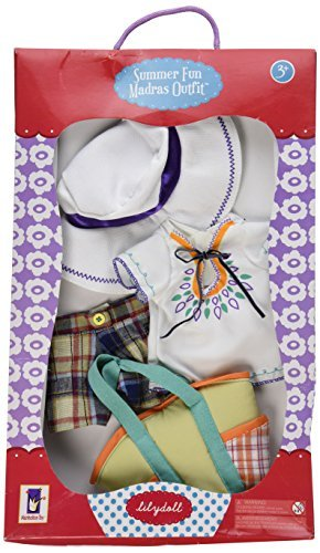 Manhattan Toy Lilydoll Summer Fun Madras Outfit for your Lilydoll, from Manhattan (Madras Style Plaid Pants)