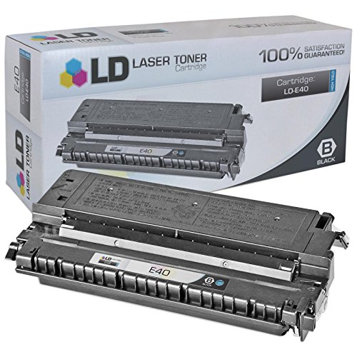 LD Compatible Canon 1491A002AA (E40) High Yield Black Toner Cartridge for FC-100, FC-120, FC-200, FC-220, FC-336, FC-500, PC140, PC150, PC160, PC170, PC210, PC230, PC300, PC310, PC320, PC325 (E40 Black Cartridge)