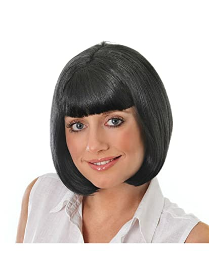 Ladies Short Black Bob Wig Pulp Fiction Mia Hollywood Fancy Dress by Home & Leisure Online