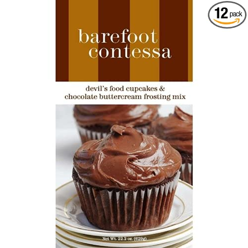 Amazon.com : Barefoot Contessa Devils Food Cupcakes and Chocolate Buttercream Frosting Mix, 22.2-Ounce (Pack of 12) : Cake Mixes : Grocery & Gourmet Food