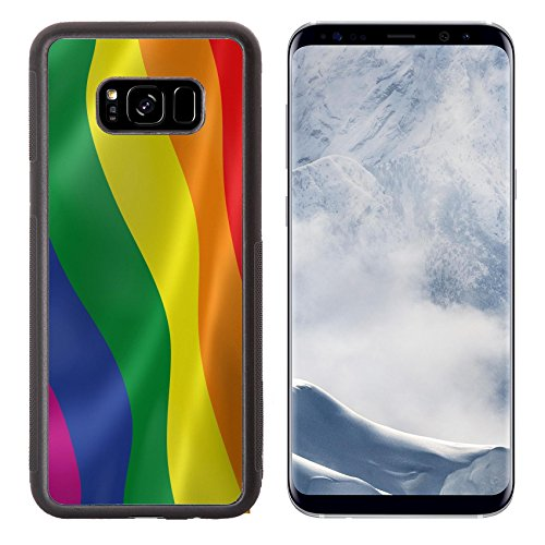 Liili Premium Samsung Galaxy S8 Plus Aluminum Backplate Bumper Snap Case IMAGE ID: 14469623 Gay pride flag in the wind Part of a series (Plate Specials Personalized Banner)
