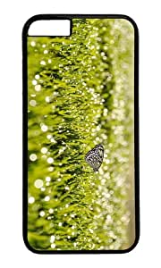MOKSHOP Adorable grass sunrise butterfly Hard Case Protective Shell Cell Phone Cover For Apple Iphone 6 (4.7 Inch) - PC Black