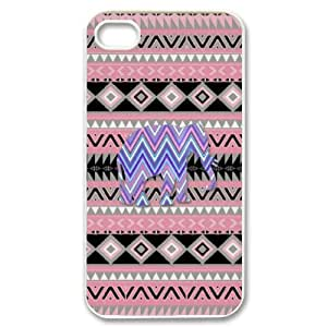 J-LV-F Customized Print Elephant Aztec Tribal Pattern Back Case for iPhone 4/4S