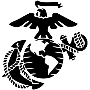 Marine Corps - Eagle Globe & Anchor BLACK USMC Car Decal Window Stickers
