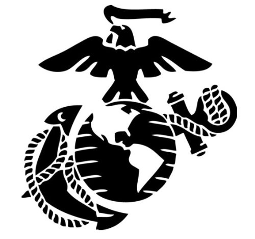 - Marine Corps - Eagle Globe & Anchor BLACK USMC Car Decal Window Stickers
