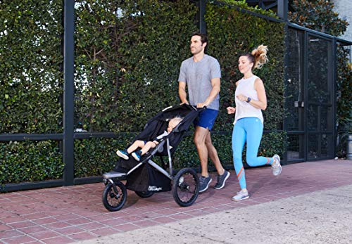 51GMt QHOyL - Joovy Zoom 360 Ultralight Jogging Stroller, Large Canopy, Lightweight Jogger, Extra Large Air Filled Tires, Black
