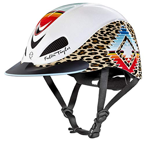(TROXEL Performance Headgear Troxel Fallon Taylor Pearl Leopard Helmet Pearl XS)