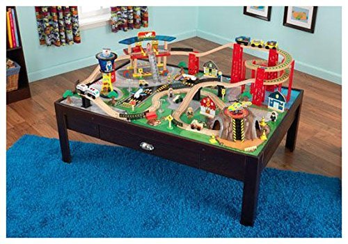 Amazon.com: KidKraft Airport Express Espresso Table and Set: Toys ...