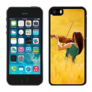 New Fashionable Designed For iPhone 5C Phone Case With Female Violinist Phone Case Cover