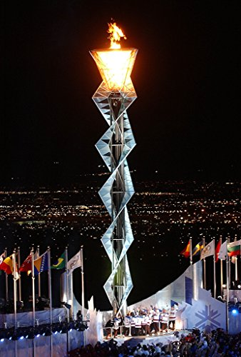 Home Comforts Laminated Poster Olympic Flame During 2002 Winter Games in Salt Lake City, Utah, United States. from The Navy Website Vivid Imagery Poster Print 24 x 36