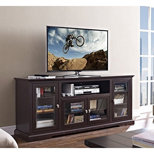 70 Wood Highboy TV Stand Espresso