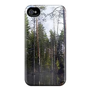 Maria N Young Premium Protective Hard Case For Iphone 4/4s- Nice Design - Forest Mist At Morning