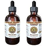 Turmeric Liquid Extract, Organic Turmeric (Curcuma Longa) Tincture, Herbal Supplement, Hawaii Pharm, Made in USA, 2x2 fl.oz