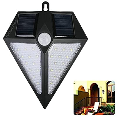 24 LED Solar Power Motion Sensor Wall Light Bright Weatherproof Wireless Security Outdoor Light for Step, Garden, Yard, Deck ,Garage, Fence and So On