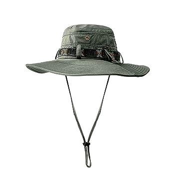 CHUSHENG Sombrero de Sol para Hombre, Gorra Plegable de ala Ancha ...