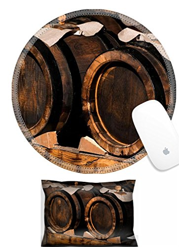 Luxlady Mouse Wrist Rest and Round Mousepad Set, 2pc IMAGE: 23506146 modena balsamic vinegar barrels for storing and aging
