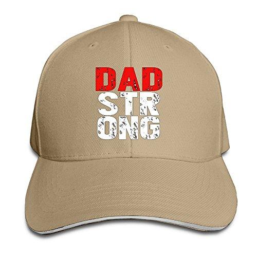 Fortinyro Dad Strong Men's Contrast Baseball Cap Sandwich Peak Natural (Rorschach Hat)