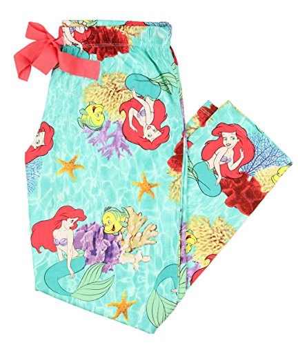 [Disney Ariel The Little Mermaid Women's Capri Sleep Pant (Large)] (Disney Little Mermaid Flounder Costume)