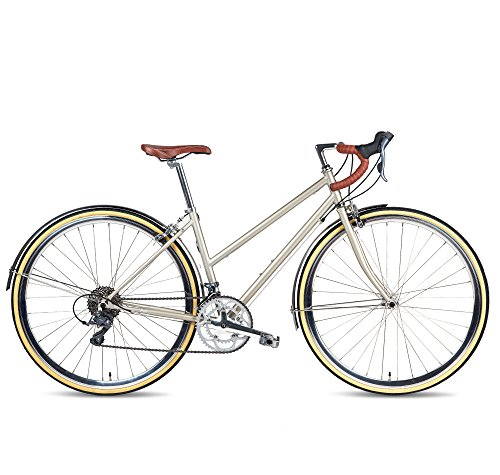 Populo Bikes Route Classic Women's Step-Through 16-SpeedCommuter Bicycle, Champagne, 48cm/Large For Sale