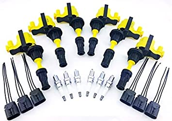 Amazon.com: FAIRLADY Z 300ZX IGNITION COILS & NGK SPARK ... on 2000 dodge stratus ignition wiring, 2000 ford expedition ignition wiring, 2000 lexus ls400 ignition wiring, 1998 nissan sentra ignition wiring, 2000 audi a4 ignition wiring, 2000 nissan maxima ignition key, 2003 honda pilot ignition wiring, 2000 buick regal ignition wiring, 2005 nissan maxima ignition wiring, 1997 ford taurus ignition wiring, 2000 ford ranger ignition wiring, 1995 nissan altima ignition wiring,