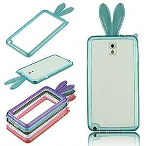 dzt1968 Premium Cute Cartoon Rabbit Ears Style Soft TPU Bumper Frame Case Designed for Samsung Galaxy Note 3 III N9006