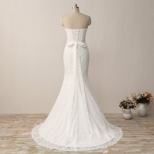 HUICHENGYAO-Womens-Sweetheart-Sleeveless-Lace-Wedding-Dress-Evening-Mermaid-Gown
