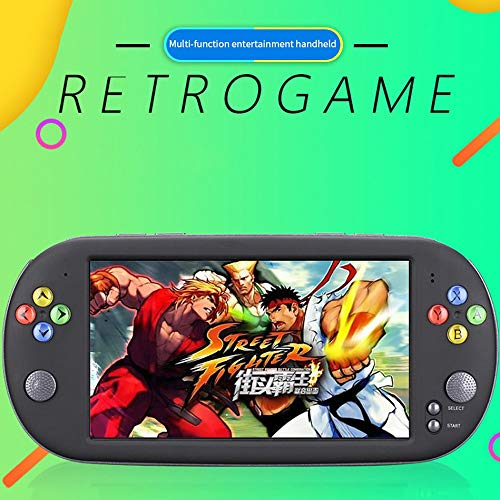 Portable Retro 16G 7.0 Inch HD Handheld Video Game Console Players for PSP GBA FC Games Black ()