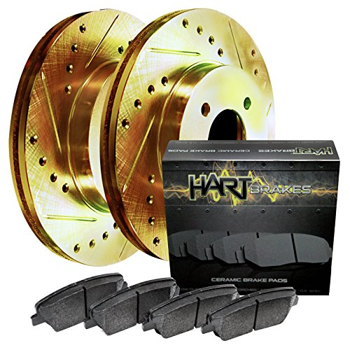 [FRONT KIT] GOLD HART DRILLED SLOTTED BRAKE...