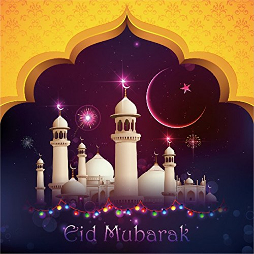 CSFOTO 8x8ft Background for Mosque Night Photography Backdrop Ramadan Muslim Islam Religion God Arabic Islamic Pray Arab Eid Mubarak Traditional Minaret Photo Studio Props Vinyl Wallpaper