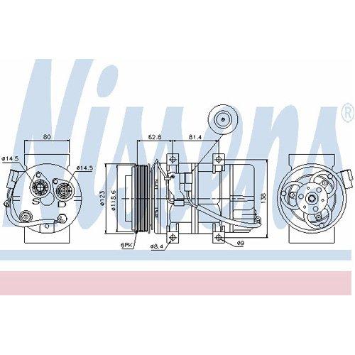 Klimaanlage NISSENS 89069 Kompressor