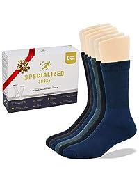 Specialized Socks Calcetines para diabeticos de Hombre/Mujer - Calidad Premium, suaves y extremadamente cómodos. Modelos acolchonados y modelos delgados de vestir.