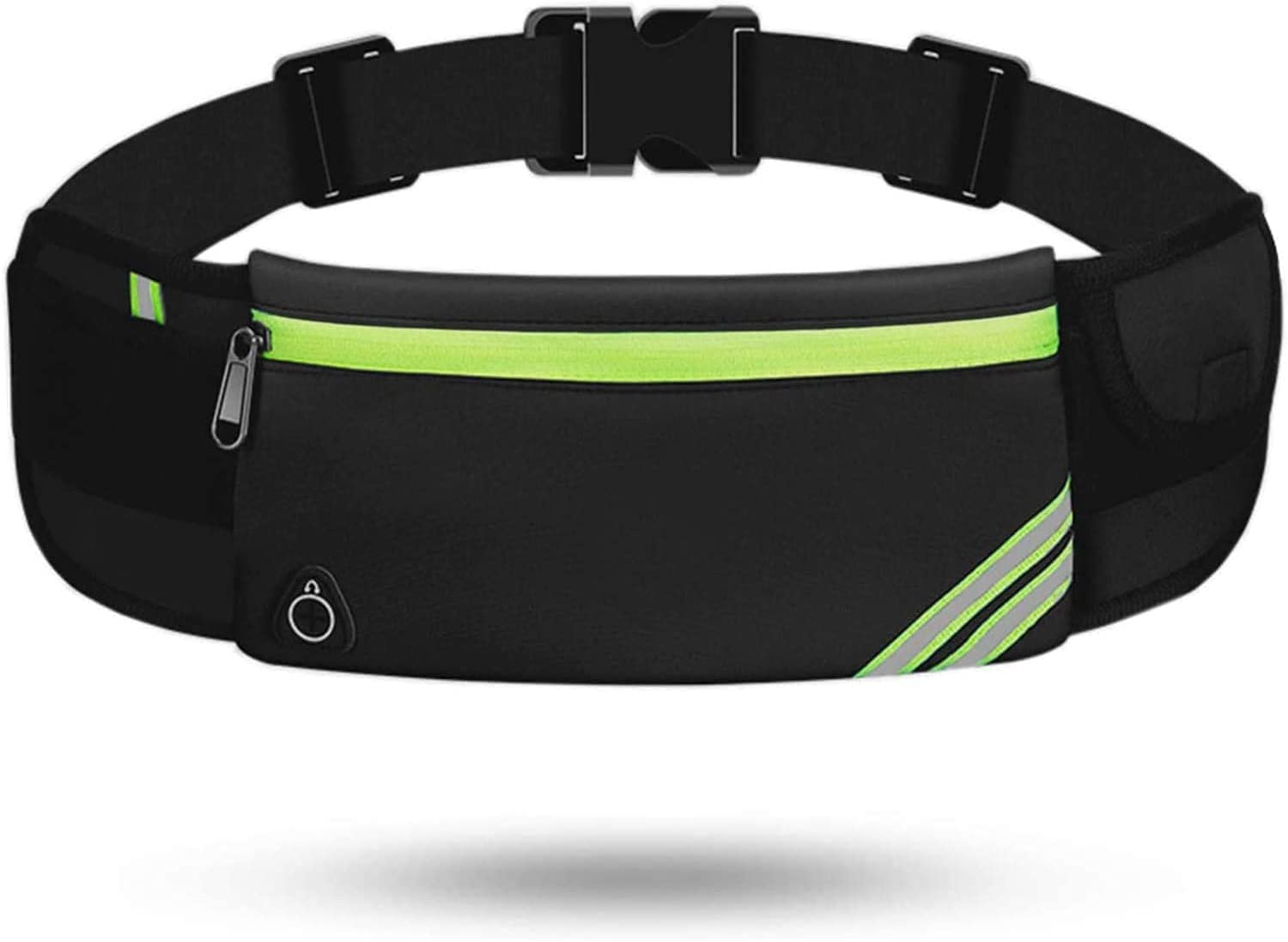 Running Belt Pouch Waist Pack Bag, Black Fanny Pack, Bounce Free Jogging Pocket Belt - Phone Holder for Running Accessories for iPhone XR 11 12 Pro Max