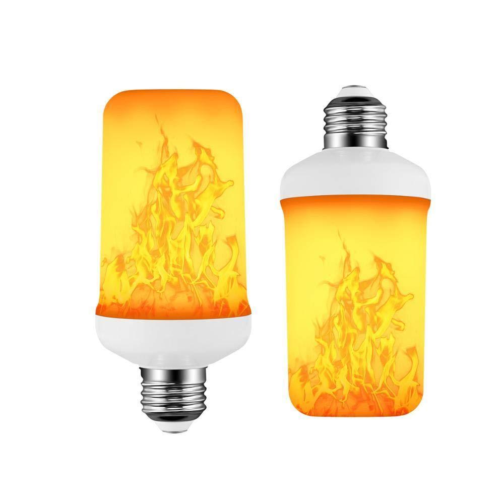 110V/_220V E27 Led Flame Lamp 4 Modalit/à Blue Flame Effect Bulb 85-265V Emulazione Tremolante Emulazione Del Fuoco Con Sensore Di Gravit/à Decor Lamp-15W/_Yes/_B22