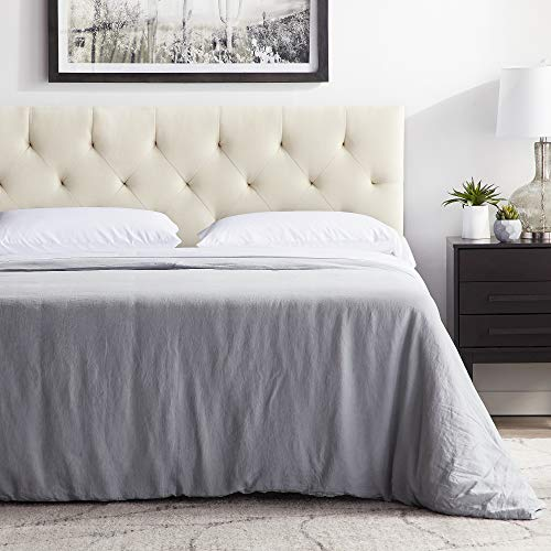 """(LUCID Mid-Rise Upholstered Headboard - Adjustable Height from 34"""" to 46"""" - King/California King -)"""