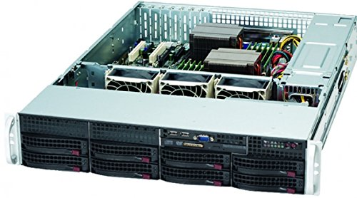Supermicro Black 2U 720W Rackmount Server Case CSE-825TQ-R720LPB