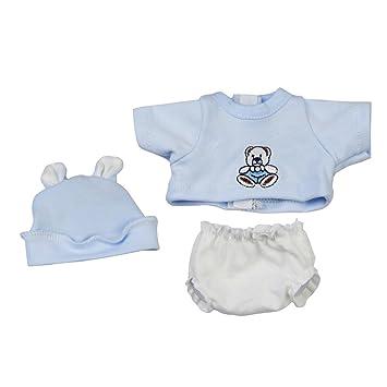 Sharplace Camisa + Sombrero + Ropa Interior Accesorios para 10 Pulgadas - 11 Pulgadas Bebé Recién