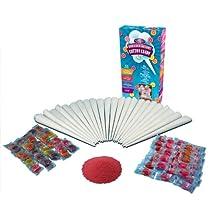 Nostalgia HCK800 Hard & Sugar-Free Candy Cotton Candy Party Kit