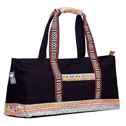 Yoga Tote Bag Boho Black