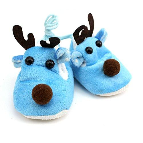 Weiche 1 Baby Paar Rutschfeste Niedlich Blau Kleinkind Prewalker Schuhe Kind Hirsch SSqwHPAn