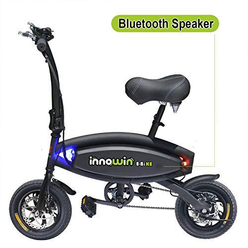 CHO Foldable Portable Electric Bicycle Bike E-Bike 250W Brushless Motor 36V 4Ah Lithium Battery (Black)
