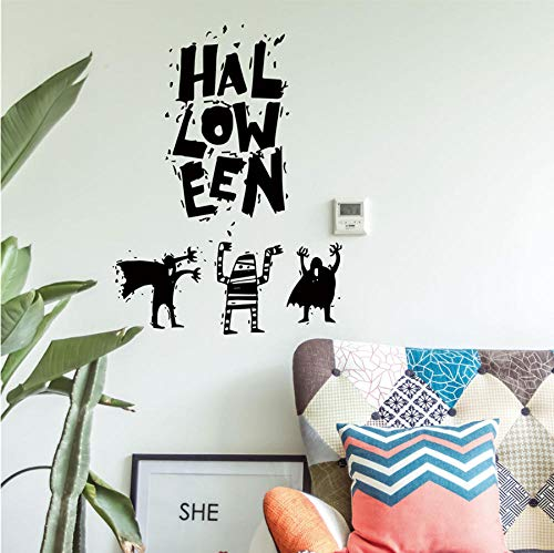 guanguangllf Halloween Witch Home Decor Living Room Bedroom Wall Sticker Creative Wallpaper 57x42cm