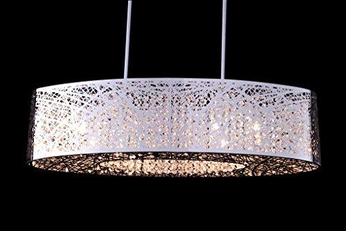 8 Light Inca E21310-10pc Oval Shade Bird Nest Chandelier Pendant Ceiling Light Fixture Lamp Length 32