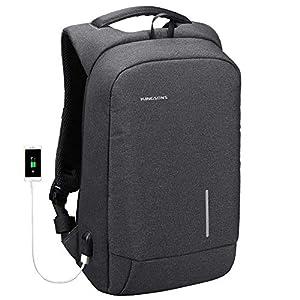 "upc 656516638406 product image for Lightweight Traveling Laptop Backpack, Kingsons Business Travel Computer Bag Slim Laptop Rucksack 13.3"" with USB Charging Port Anti Theft Bag Water Resistant for 13.3-Inch Laptop Bag(Dark Grey   barcodespider.com"