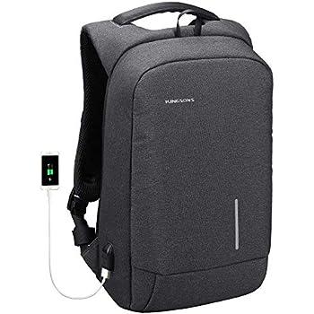 Lightweight Traveling Laptop Backpack, Kingsons Business Travel Computer Bag Slim Laptop Rucksack 13.3