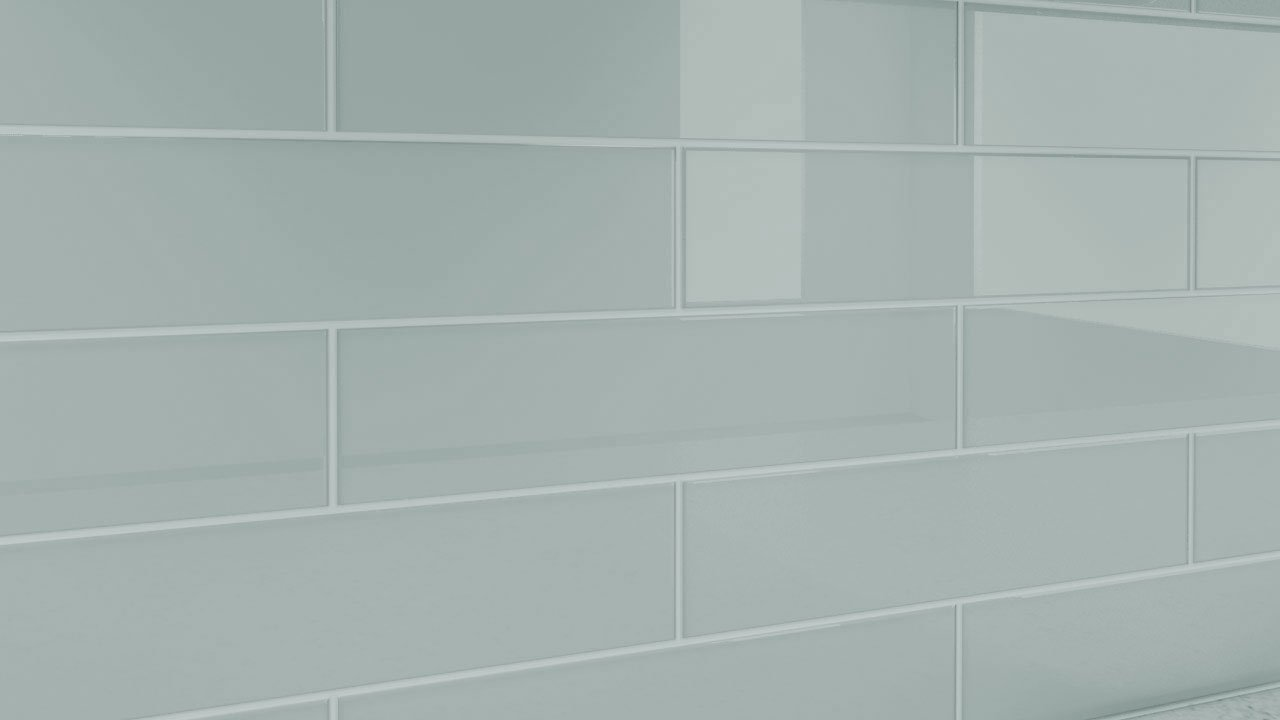 Pure White Glass Tile for Showers and Kitchens by Bodesi Sample
