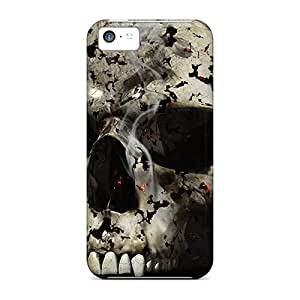 New Snap-on Mialisabblake Skin Case Cover Compatible With Iphone 5c- 3d Skull