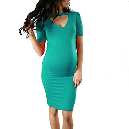 5140611af16 Image Unavailable. Image not available for. Color: Vanvler Maternity Dress  Clearance! { Pregnant Clothes Summer } Women Bodycon Dress Sexy Nursing  Shirt